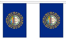 NEW HAMPSHIRE U.S. STATE BUNTING - 9 METRES 30 FLAGS